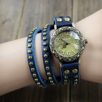 Buy Handmade Rivet Wrap Watch on Shoply.
