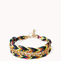 Curb Chain Woven Friendship Bracelet