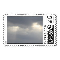 Sunlight through the Clouds - Sympathy Stamp from Zazzle.com
