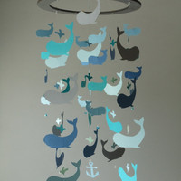 Original Whale Mobile  Can be customized by SouthernPearlDesigns