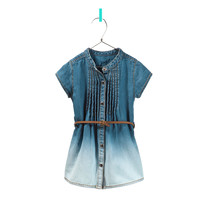denim dress with pin tucks - Dresses - Baby girl - Kids - ZARA United States