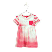 STRIPED VELOUR DRESS - Dresses - Baby girl - Kids - ZARA United States