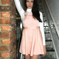 Pale Pink Dungaree Dress from Coco Boo Loves