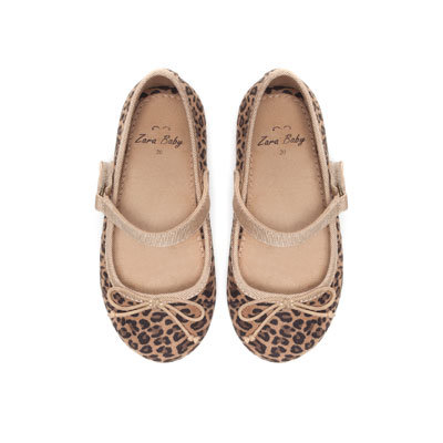 Leopard print ballerina shoes Shoes from ZARA