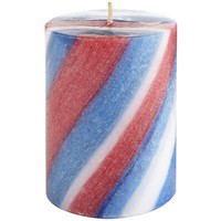 Red White & Blue Stripe Pillar - 3x4