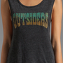 Chaser Outsiders Tri Blend Hi Lo Muscle Tee in Black from REVOLVEclothing.com