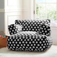 Black Painted Dot Eco Lounger
