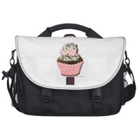 Cute muffin cupcake design Illustration Laptop Bag from Zazzle.com