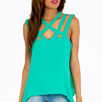 Chrissy Cross Tank Top  $25