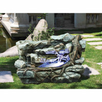 Staggered Rock Canyon Cascading Garden Fountain - DW96011                       - Design Toscano