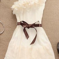 One Shoulder Chiffon Dress