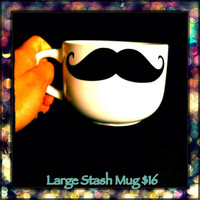 Mustache mug large size soup mug by LeiaLove00 on Etsy