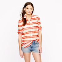 Stripe cotton voile tunic - casual shirts - Women&#x27;s shirts &amp; tops - J.Crew