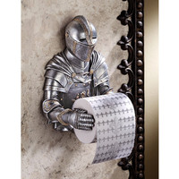 A Kinght to Remember Gothic Bath Tissue Holder - CL5768                       - Design Toscano