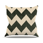 "ON SALE UNTIL SUNDAY!! Catherine McDonald ""Vintage Vinyl"" Black Chevron Throw Pillow 