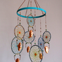 Turquoise Dream Copper with Copper Leafed Porcelain Mobile