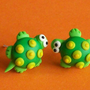 turtles stud earrings polymer clay fimo handmade