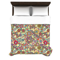 "Julia Grifol ""My Butterflies & Flowers in Yellow"" Duvet Cover 