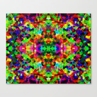 Kaleidoscope Carnival Stretched Canvas by Glanoramay