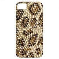 Chic Leopard crystals photo print iPhone 5 Cases from Zazzle.com