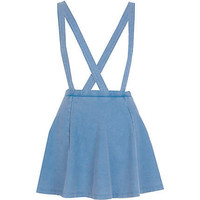 Light acid wash dungaree skater skirt  - skater skirts - skirts - women