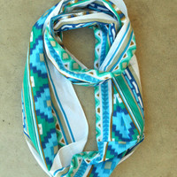 Dreamcatcher Infinity Scarf in Indigo [3637] - $21.00 : Vintage Inspired Clothing & Affordable Summer Frocks, deloom | Modern. Vintage. Crafted.