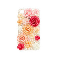 Rosette &amp; Pearl IPhone 4 Case: Charlotte Russe