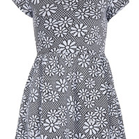 Petite Jacquard Daisy Tunic - New In This Week - New In - Topshop USA