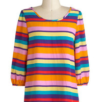 Bright Stripes Big City Top | Mod Retro Vintage Short Sleeve Shirts | ModCloth.com
