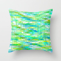 Calypso  Throw Pillow by Lisa Argyropoulos