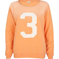 Coral 3 applique varsity sweatshirt  - sweaters / hoodies - t shirts / vests / sweats - women