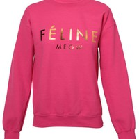 BRIAN LICHTENBERG | Unisex Feline Cotton-blend Sweatshirt | Browns fashion &amp; designer clothes &amp; clothing