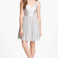 Aidan Mattox Embellished Tulle Fit &amp; Flare Dress | Nordstrom