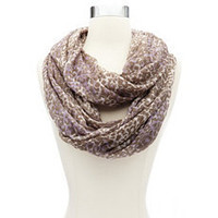 Lavender Leopard Infinity Scarf: Charlotte Russe