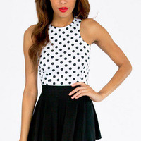 Circle Circle Dot Dot Crop Top $18