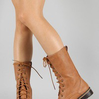 Lug-11-P Lace Up Military Mid Calf Boot