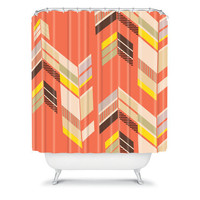 DENY Designs Home Accessories | Gabi Chevron Coral Shower Curtain
