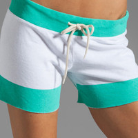 Monrow Vintage Shorts in Neon Mint from REVOLVEclothing.com