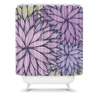 DENY Designs Home Accessories | Gabi Purple Dahlia Shower Curtain