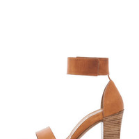 Chloe | Ankle Strap Heel in Cognac www.FORWARDbyelysewalker.com