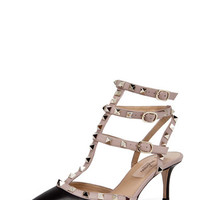 Valentino | Rockstud Sling Back T.65 in Black www.FORWARDbyelysewalker.com
