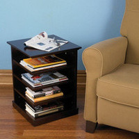 The Organized Reader&#x27;s End Table - Hammacher Schlemmer