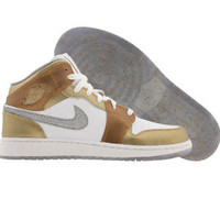 Air Jordan 1 Phat (white / metallic silver / metallic gold / white) Shoes 454659-135 | PickYourShoes.com
