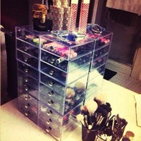 InterDesign Clear Drawers - (modules of three drawers each)