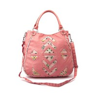 Shi by Journeys Aztec 2 Handle Handbag in Coral | Shi by Journeys