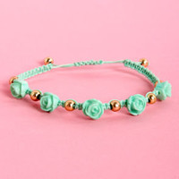 Lana Del Rose Mint Green Friendship Bracelet