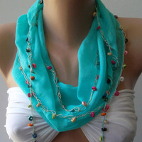 Cotton Elegance Shawl / Summer Scarf