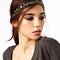 ASOS Jewel Cross Headband at asos.com