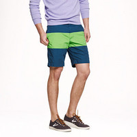 Short in lime/blue colorblock