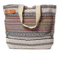 CANVAS BAG WITH LEATHER APPLIQUÉS - Beachwear - Woman - ZARA United Kingdom